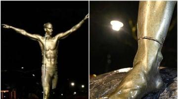 Aparece ahorcada la estatua de Ibrahimovic en Suecia