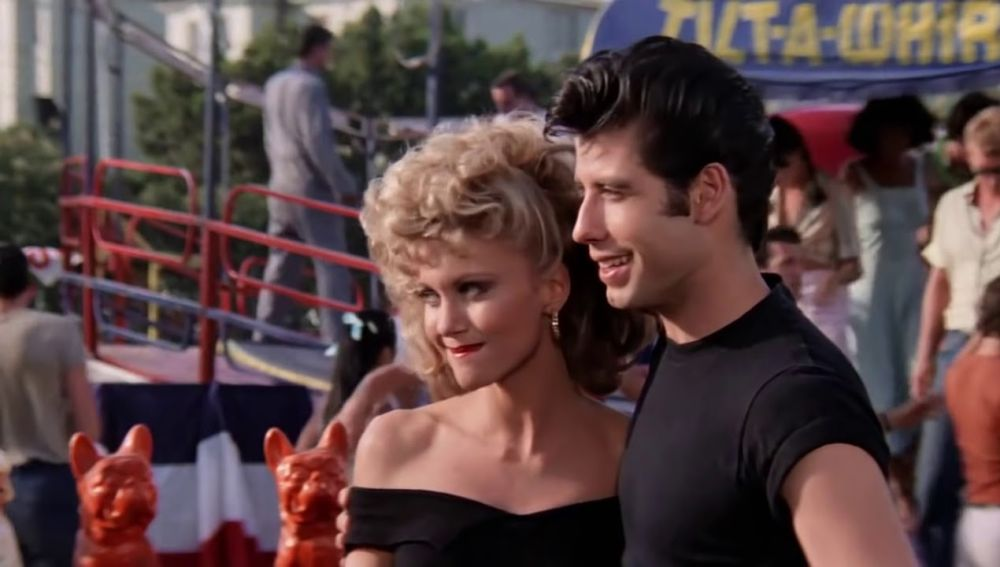 John Travolta y Olivia Newton-John en 'Grease'
