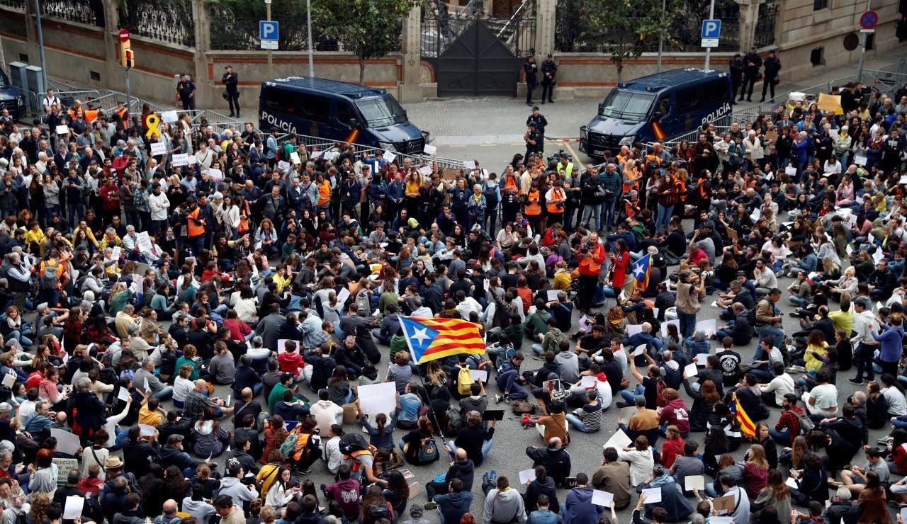 Manifestación convocada por Tsunami Democràtic
