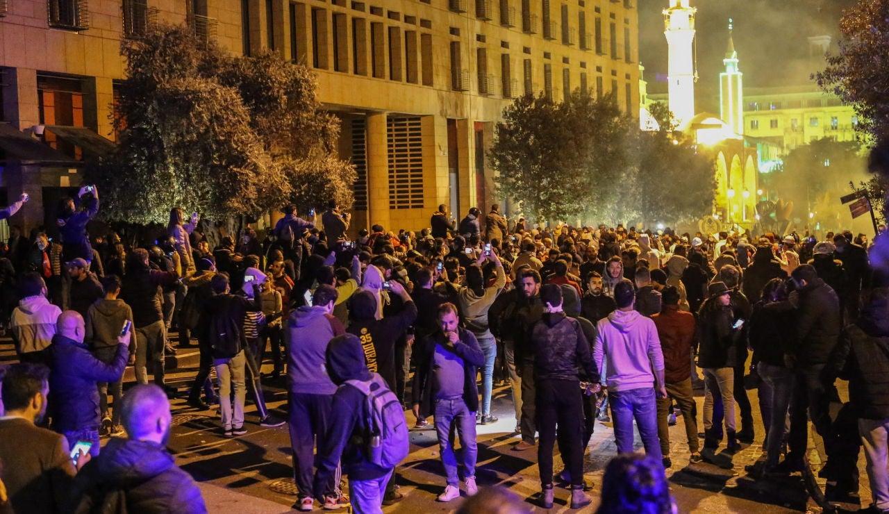 Manifestación en Beirut
