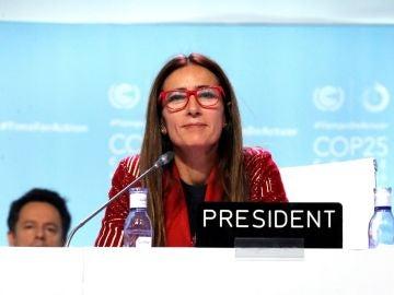 La ministra de Medio Ambiente de Chile y presidenta de la COP25, Carolina Schmidt