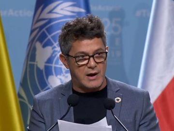 Alejandro Sanz en la COP25