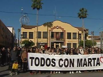Concentración 'Todos con Marta'