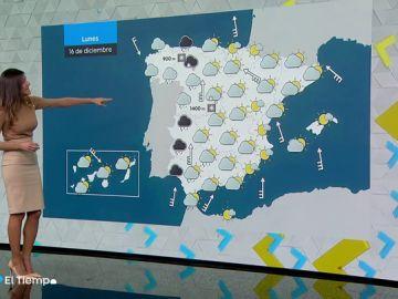 El lunes arrancará con tiempo inestable en gran parte de España
