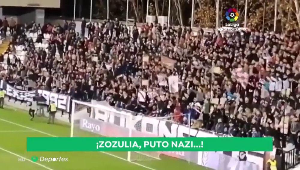 """Suspenden el Rayo - Albacete en Vallecas por los gritos de """"¡Zozulya p*** nazi!"""""""