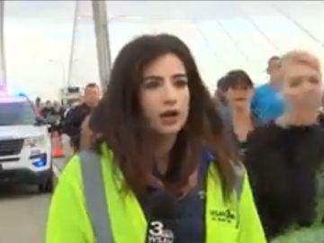 La joven periodista queda sorprendida tras ser víctima de una agresión sexual