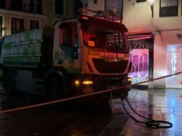 Madrid camión de la limpieza