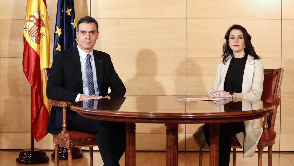Reunión entre Sánchez y Arrimadas (Archivo)