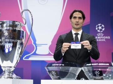 Hamit Altintop, en el sorteo de la Champions
