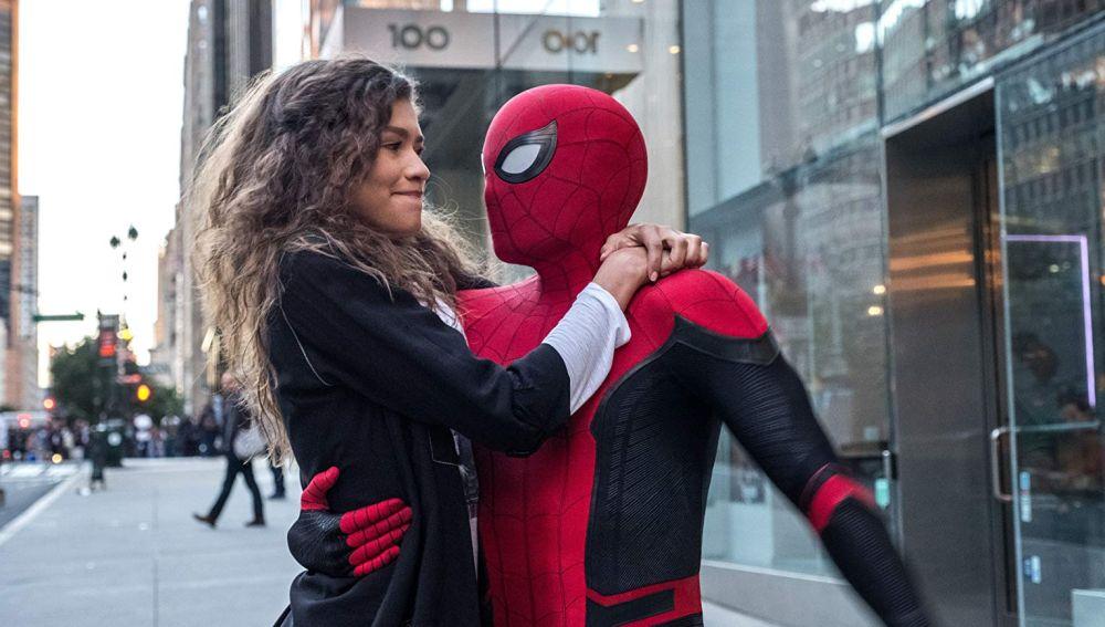 Peter Parker y MJ en 'SpiderMan: Lejos de casa'