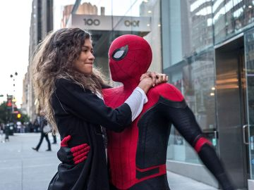 Peter Parker y MJ en 'SpiderMan: Lejos de casa'