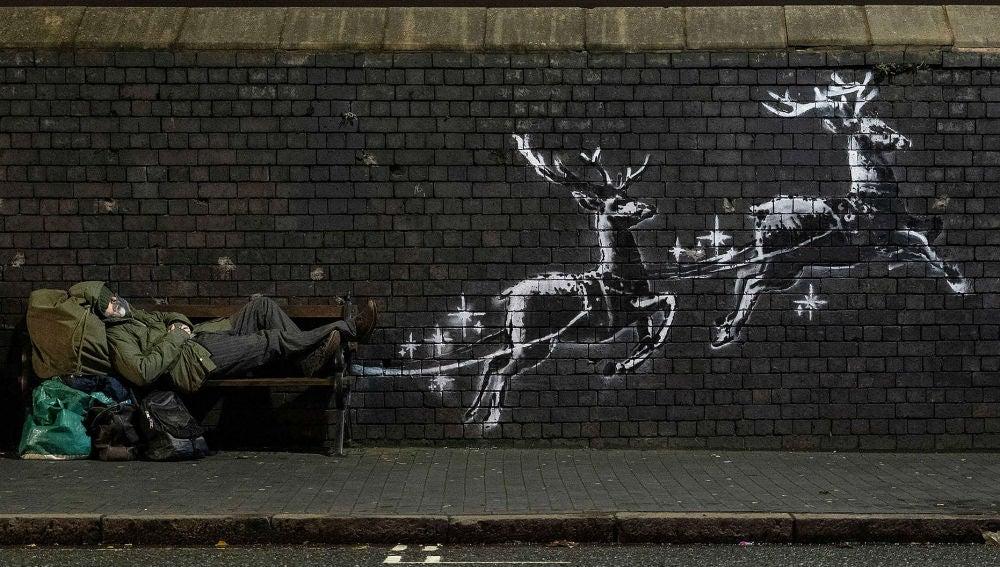 Mural de Bansky en Birmingham