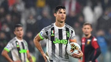Cristiano Ronaldo durante un partido en la Juventus esta temporada