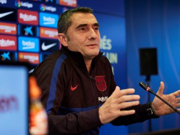 Ernesto Valverde en rueda de prensa