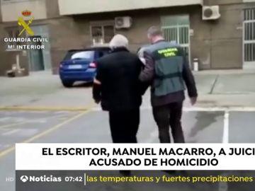 El escritor Manuel Macarro, a juicio acusado de Homicidio
