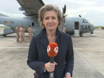 Visita de Navidad de Margarita Robles a los militares desplegados en la Operación Sophia de lucha contra la inmigración ilegal en el Mediterráneo.