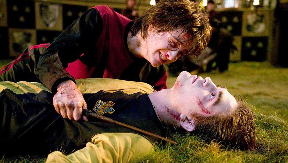 Harry Potter y Cedric Diggory en 'El Cáliz de Fuego'