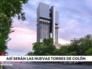Las nuevas torres de Colón en Madrid tendrán nuevo aspecto en 2020 y serán cero emisiones