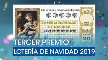 Lotería de Navidad 2019: Tercer premio del sorteo extraordinario de Navidad
