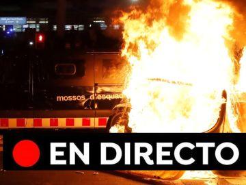 Barcelona - Real Madrid: Cargas policiales, Tsunami Democràtic, movilizaciones, quema de contenedores y última hora del Clásico, en directo