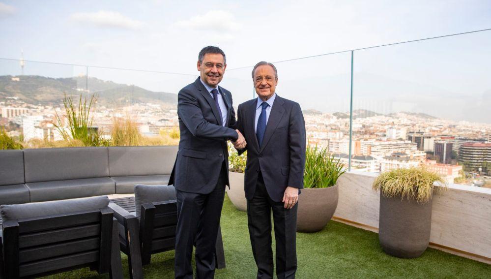 Barcelona - Real Madrid: Bartomeu y Florentino juntos en el inicio de la comida de directivas
