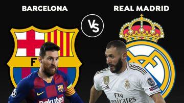 Barcelona - Real Madrid: Alineación del partido de hoy de la Liga Santander, el Clásico