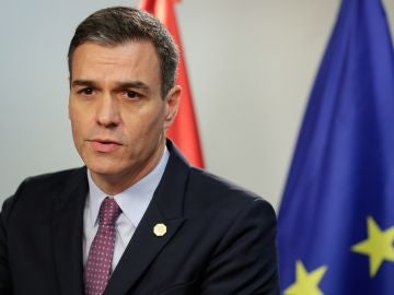 Pedro Sánchez en rueda de prensa tras haber sido propuesto por el Rey como candidato.