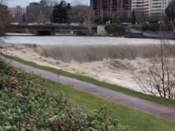 Varios ríos por encima de su caudal ponen en alarma a Castilla y León