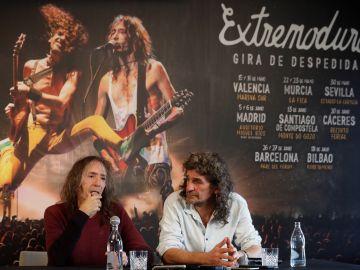 Robe Iniesta e Iñaki Antón presentando su gira de despedida