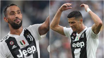 Benatia y Cristiano Ronaldo con la Juventus