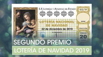 Lotería de Navidad 2019: Segundo premio del Sorteo de Navidad