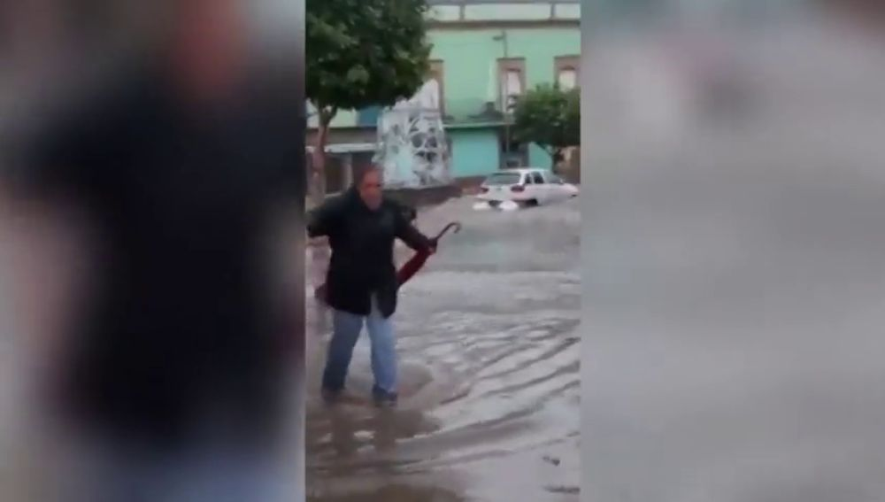 La borrasca 'Elsa' causa destrozos en el municipio de Nerva en Huelva