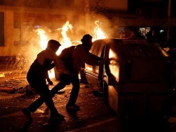 Disturbios en los exteriores del Camp Nou
