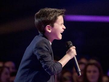 Daniel García canta 'Te espero aquí' en la Final de 'La Voz Kids'