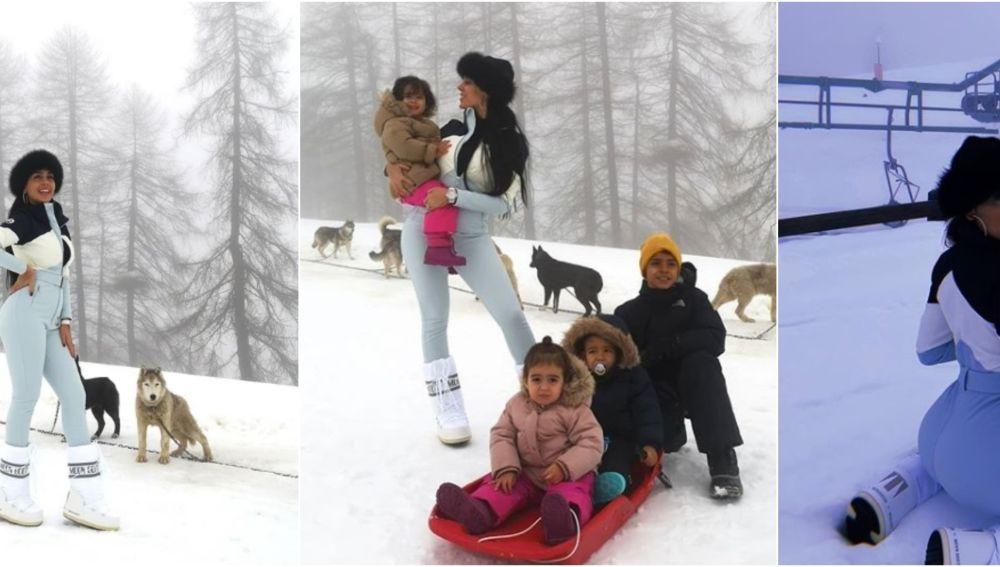Georgina Rodríguez, en su jornada en la nieve