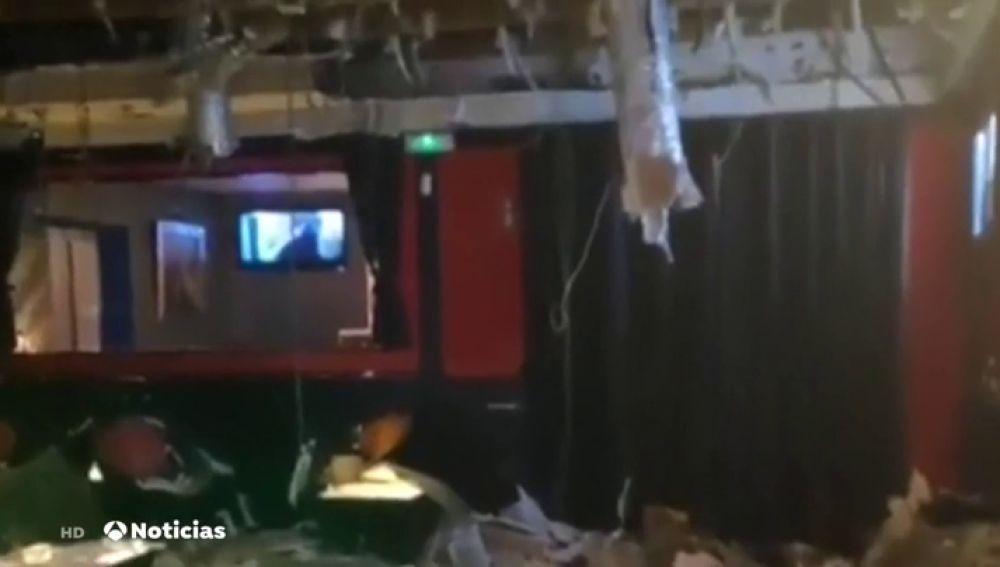 El techo de una sala de copas de Aranjuez se derrumba y deja 16 heridos leves
