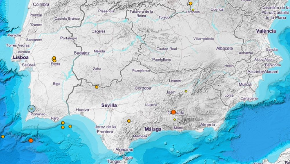 Nuevo terremoto de magnitud 3,3 en Granada, el número 26 desde este sábado