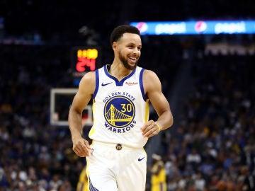 Stephen Curry, durante un partido de los Warriors