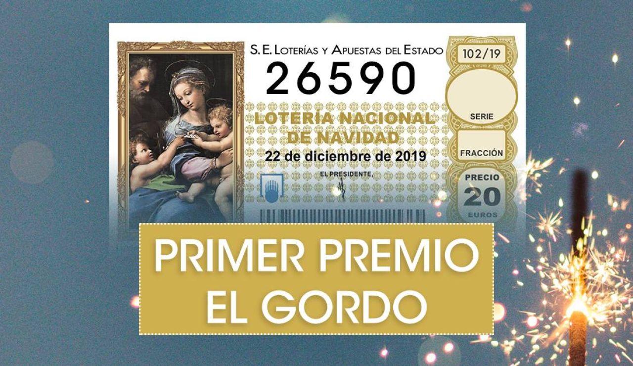 Lotería de Navidad 2019: 26590, el Gordo del sorteo de Navidad