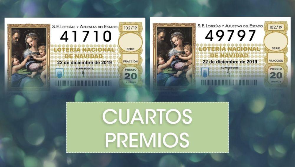 Lotería Navidad 2019: Cuartos premios del sorteo Extraordinario de Navidad de la Lotería Nacional
