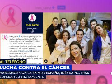 """La ex miss España Ines Sainz: """"Si no hubiera ido al ginecólogo, quizás estaría contando otra cosa muy diferente"""""""