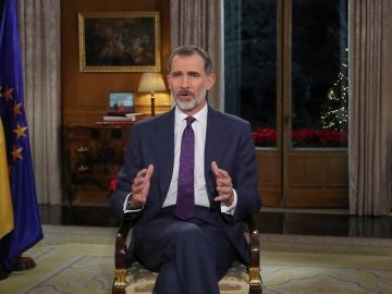 El Rey Felipe VI durante un discurso navideño