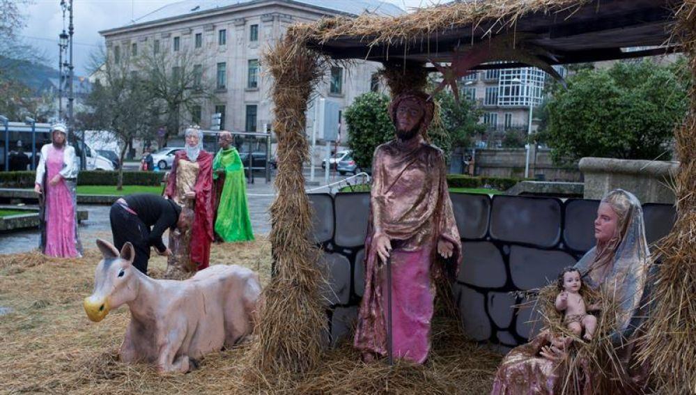 """El belén """"yonkizombie"""" de Ourense desata las críticas porque """"puede acabar con el espíritu de la Navidad de cualquier familia"""""""