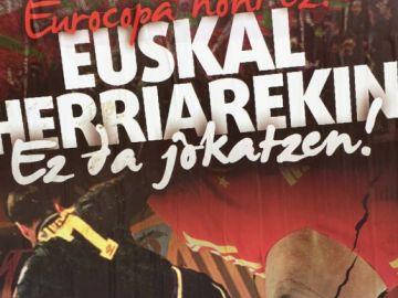 Cartel de la izquierda abertzale contra la Eurocopa en Bilbao