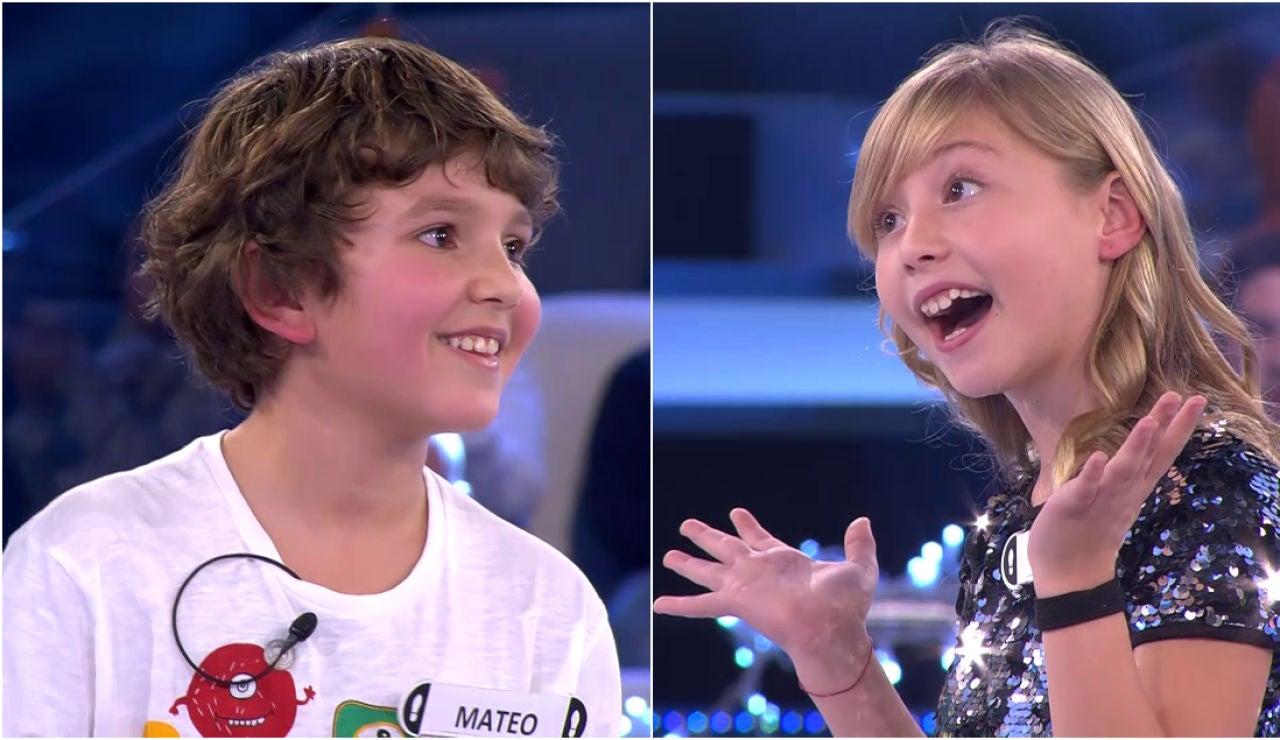 Mateo e Ivet, los más felices del especial Nochebuena con niños de '¡Ahora caigo!'