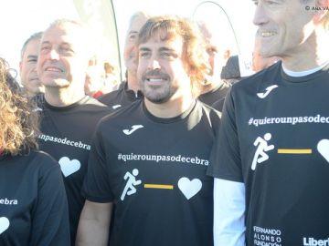 Alonso participa en la carrera solidaria de su fundación