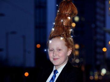 El peinado navideño