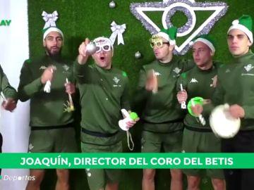 Joaquín lidera la divertida felicitación navideña del Real Betis