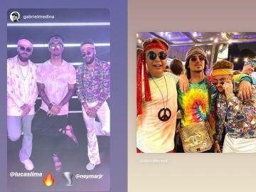Neymar en su particular fiesta 'hippie'