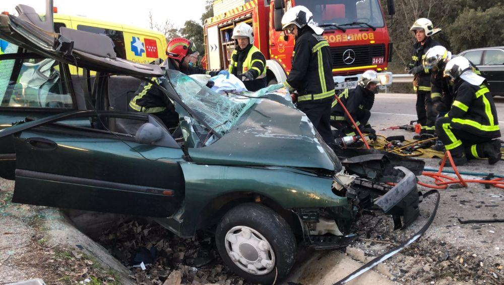 Accidente de tráfico mortal en Navalcarnero.